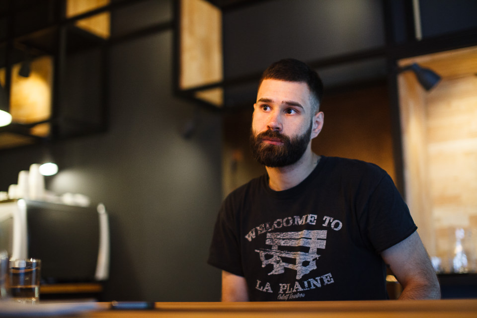 Сергей Думов, шеф-бариста кофейни Malamoute