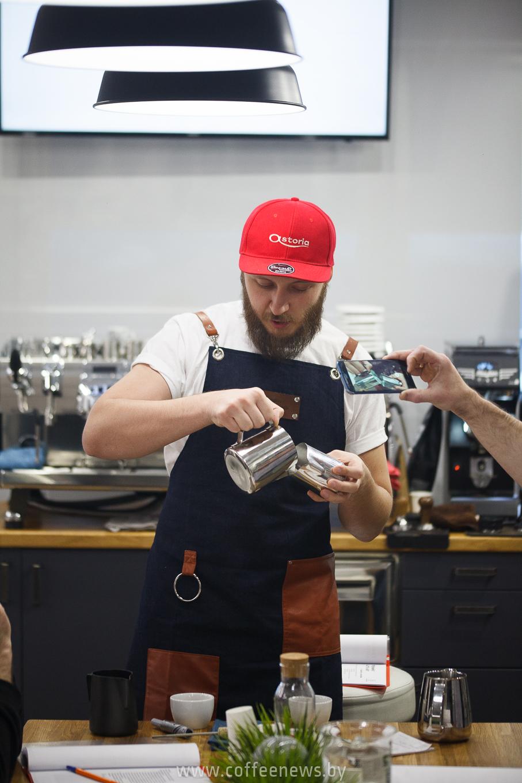 Александр Беницкий тренинг латте-арт в Минке