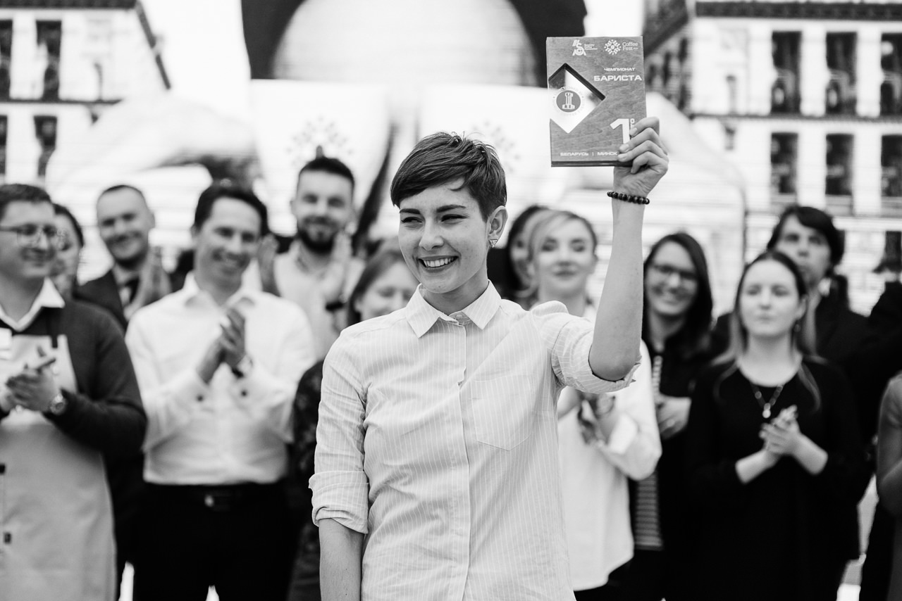 Даша Пинчук победитель бариста 2018 на Coffee Fest